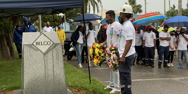 BELCO Safety and Health at Work Day Memorial Bermuda July 2021 TWFB
