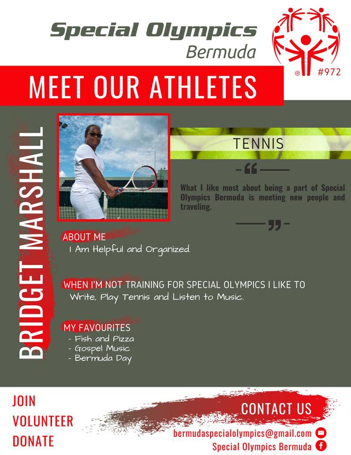 Bridget Marshall Special Olympics Bermuda July 2021