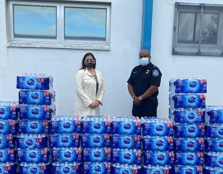 CBP Water Donation Bermuda July 2021