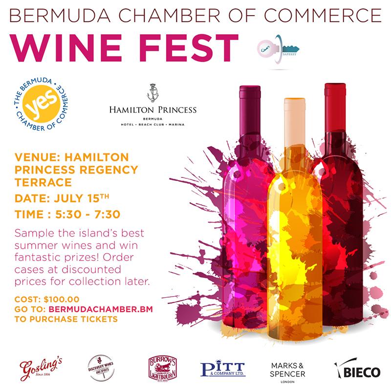 Chamber & Hamilton Princess Wine Fest Bermuda July 2021