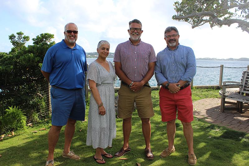 Colin Brown, Sonia Perez, Adam Barboza, Dr Ian Walker Bermuda July 2021