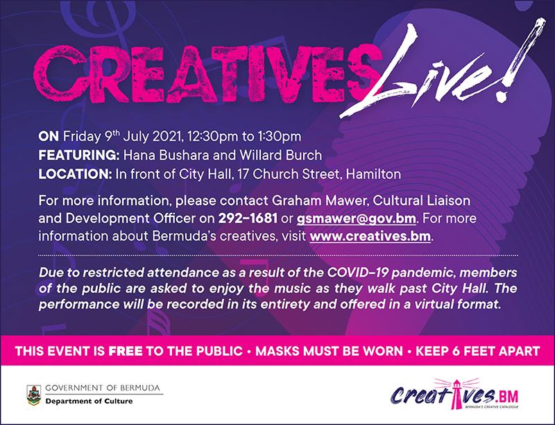 Creatives Live Hana Bushara & Willard Burch Bermuda July 2021