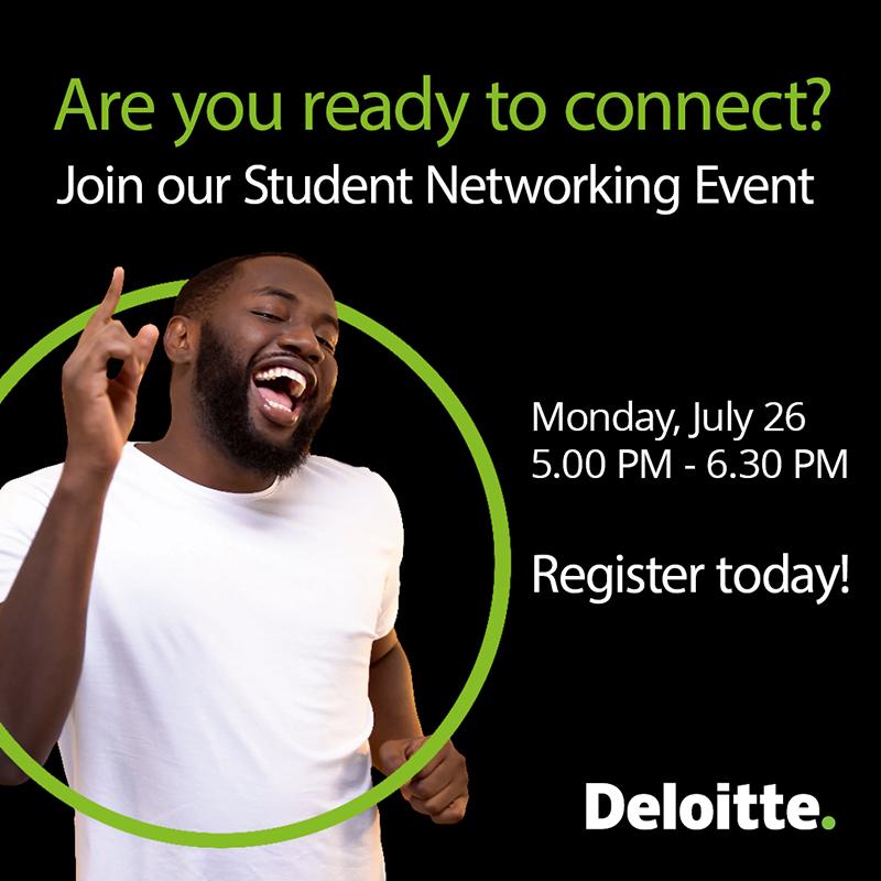 Deloitte Student Networking Event Bermuda July 2021