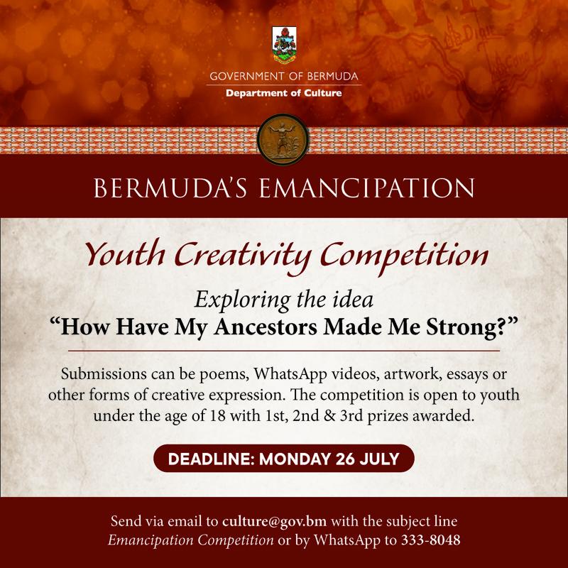 Emancipation Youth Creativity Bermuda July 2021