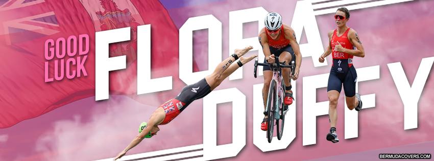 Flora Duffy Bermuda Athlete Facebook Cover Image Design 2