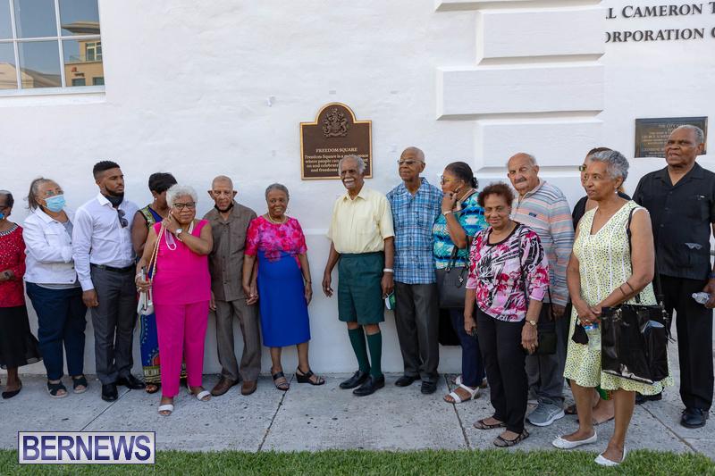 Freedom Square Unveiling City of Hamilton Bermuda July 2021 (1)