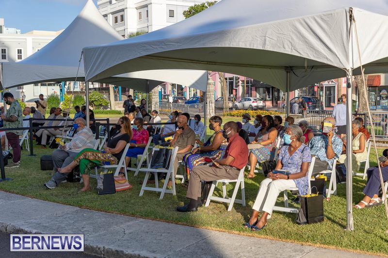 Freedom Square Unveiling City of Hamilton Bermuda July 2021 (15)