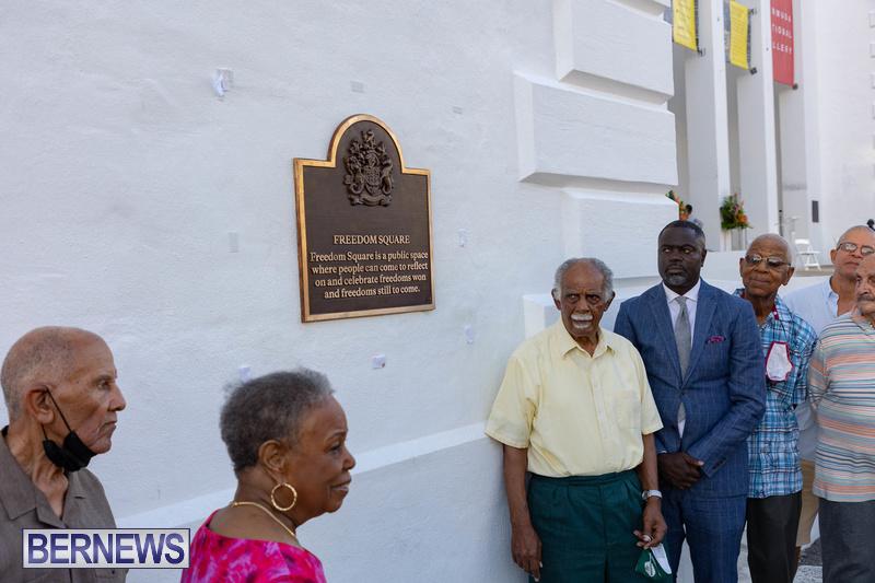 Freedom Square Unveiling City of Hamilton Bermuda July 2021 (26)