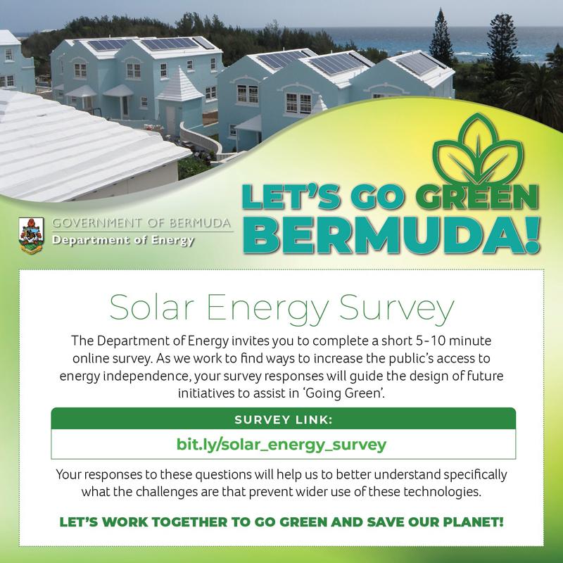 Let's Go Green Bermuda Solar Energy Survey July 2021