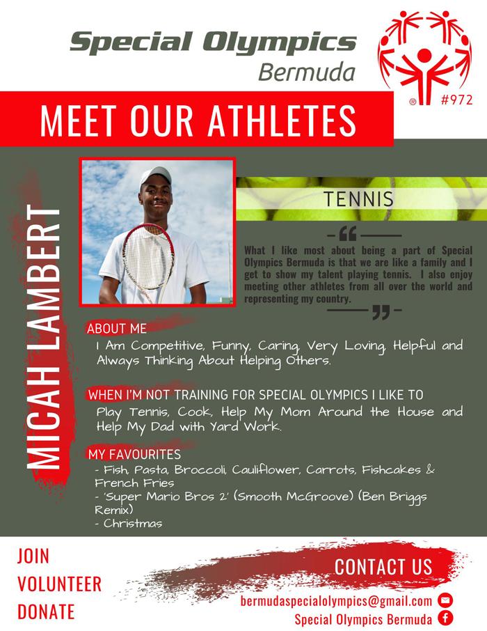 Micah Lambert Special Olympics Bermuda July 2021