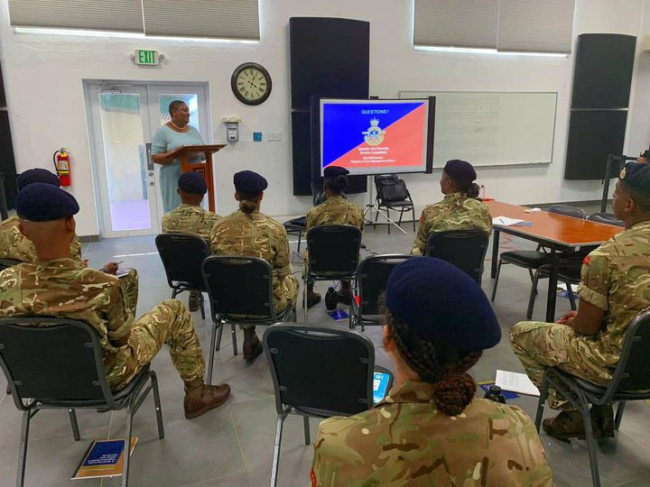 Minister Renee Ming Visits RBR trainees Bermuda July 2021