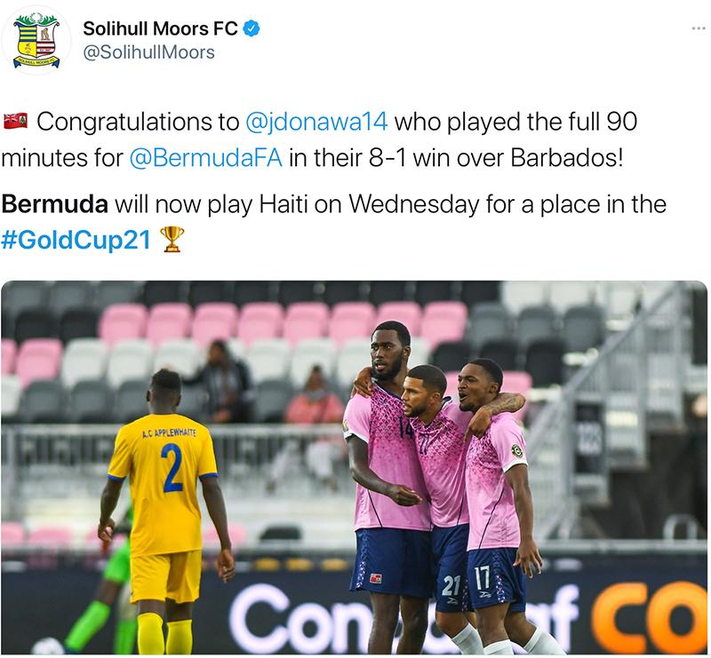 Moors Congratulates Donawa Bermuda July 2021