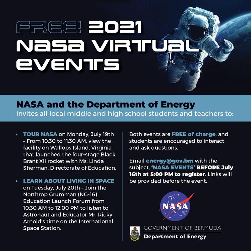 NASA Virtual Events Bermuda July 2021