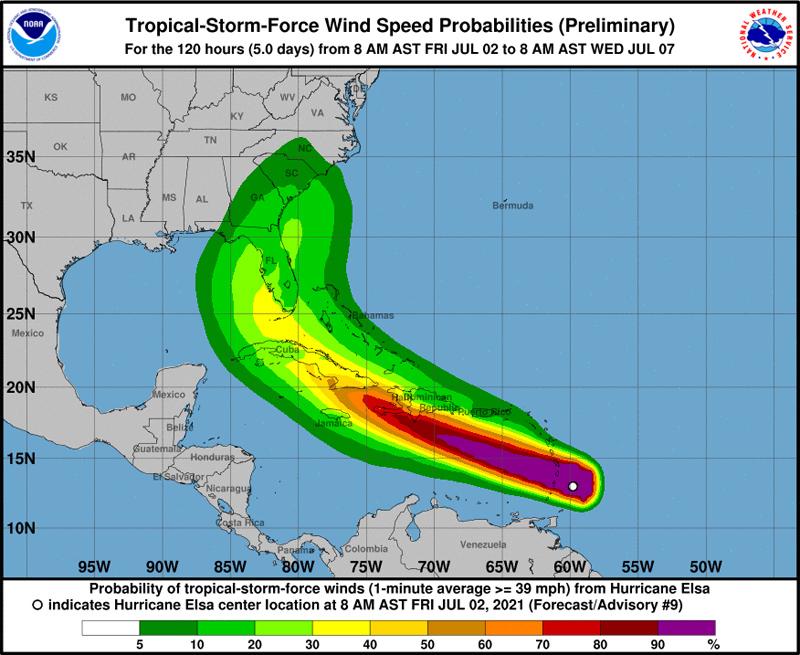 NHC Hurricane Elsa July 2 2021