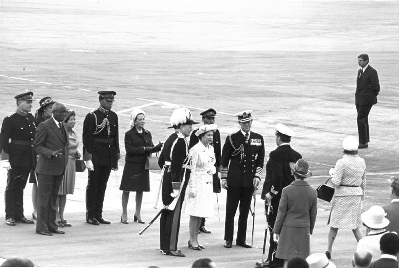 Queen & The Late Duke of Edinburgh On July 3 1976 Bermuda