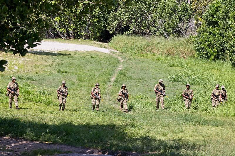 Royal Bermuda Regiment Recruit Camp 21 Brave fieldcraft lessons.