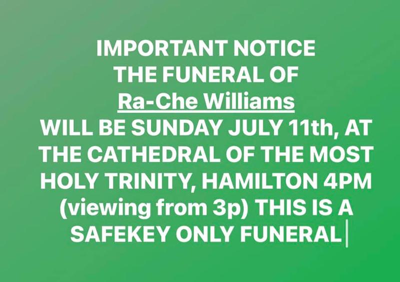 Ra-Che Williams Funeral Service Bermuda July 2021 1