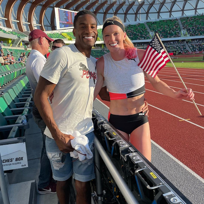 Tyrone Smith & Sandi Morris Bermuda July 2021