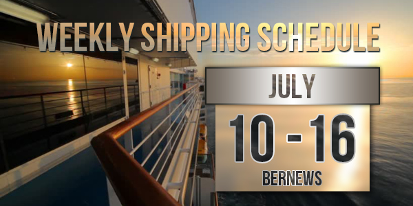 Weekly Shipping Schedule TC July 10 - 16 2021