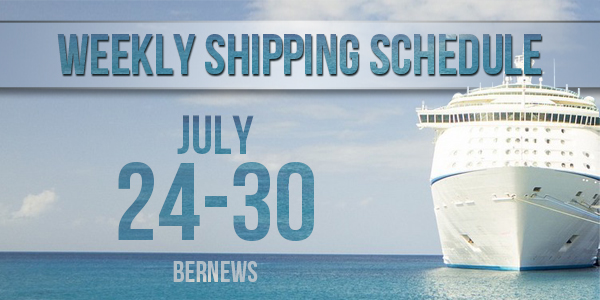 Weekly Shipping Schedule TC July 24-30 2021