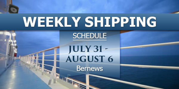 Weekly Shipping Schedule TC July 31 - August 6 2021