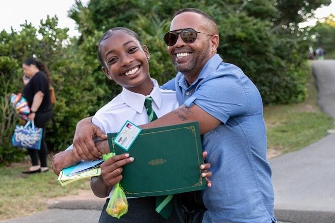 Whitney Middle School Graduates Bermuda July 2021 6