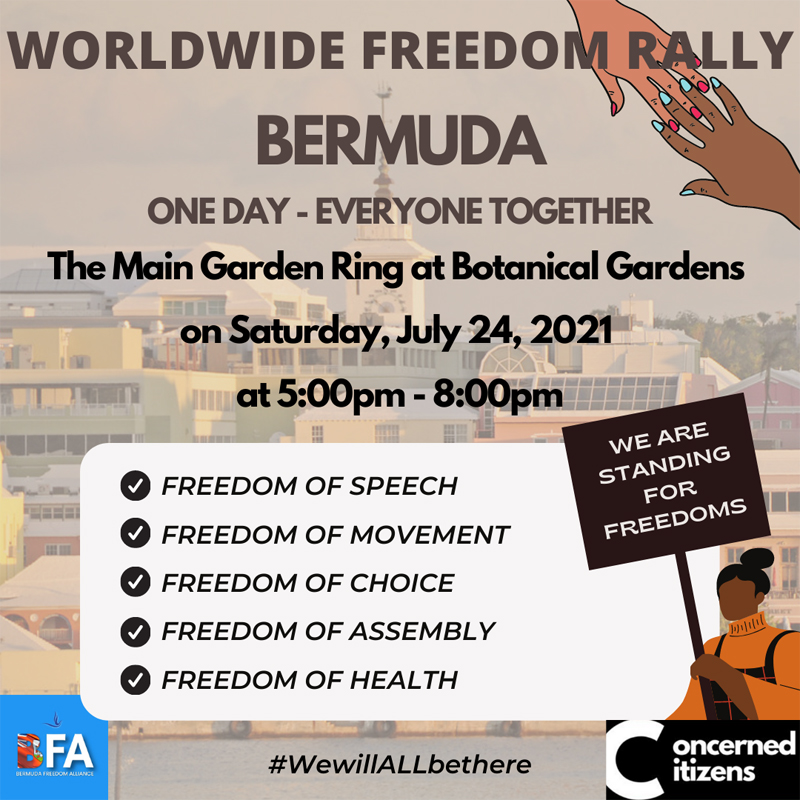 Worldwide Freedom Rally Bermuda July 2021