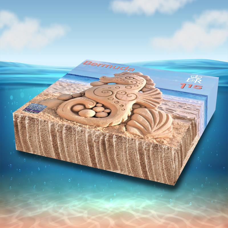 3D Sandcastle Commemorative Stamps Bermuda Aug 2021 1
