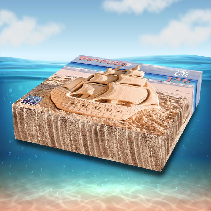 3D Sandcastle Commemorative Stamps Bermuda Aug 2021 2