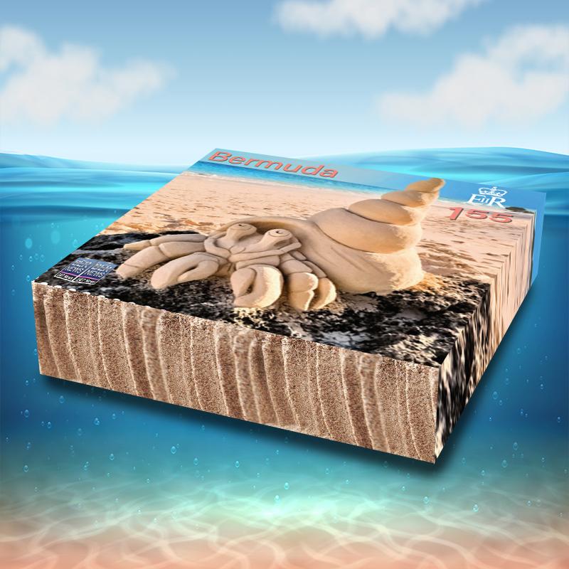 3D Sandcastle Commemorative Stamps Bermuda Aug 2021 3