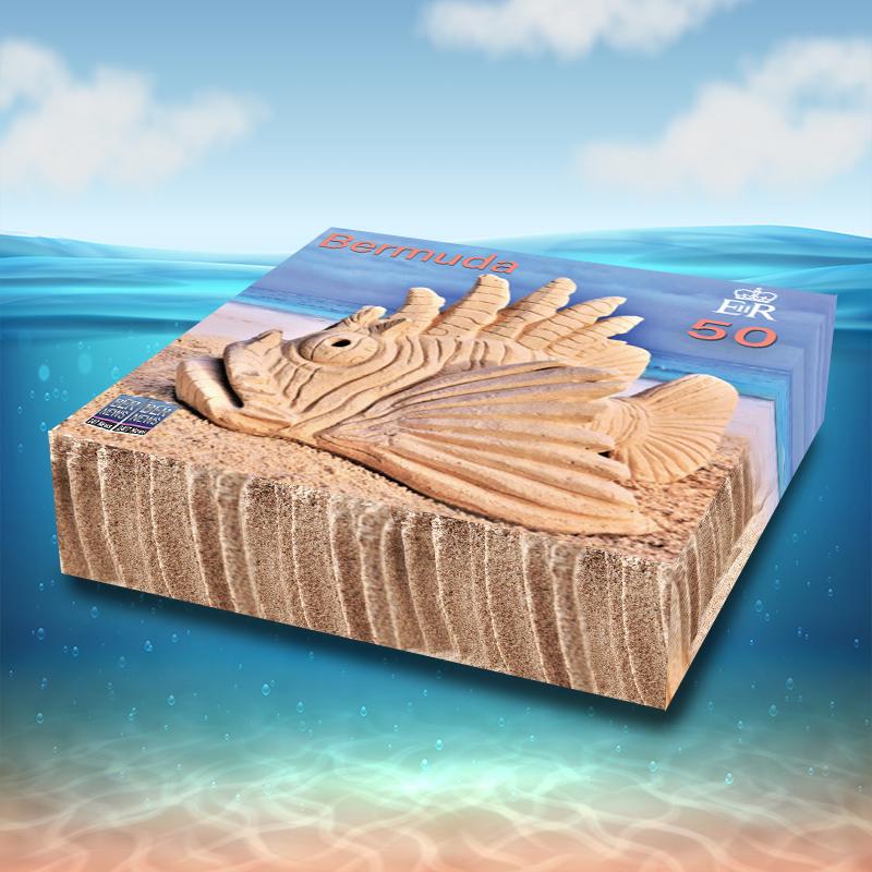 3D Sandcastle Commemorative Stamps Bermuda Aug 2021 4