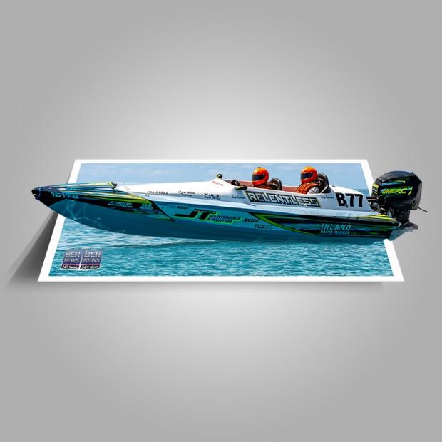 Around the Island Powerboat Racing B77 Bermuda August 9 2021