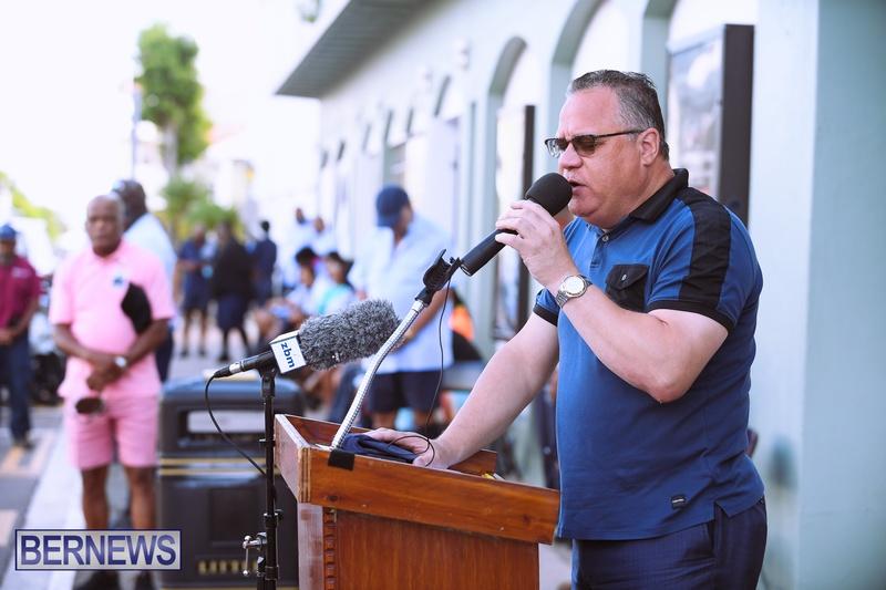 BIU Bermuda protest march August 31 2021 Bernews AW (1)