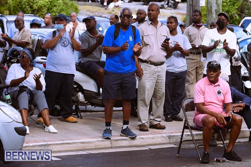 BIU Bermuda protest march August 31 2021 Bernews AW (10)