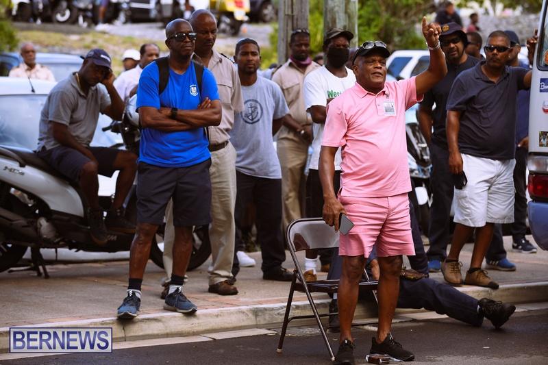 BIU Bermuda protest march August 31 2021 Bernews AW (11)
