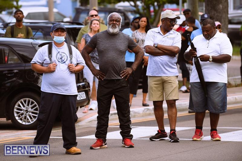 BIU Bermuda protest march August 31 2021 Bernews AW (13)