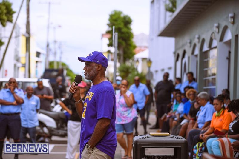 BIU Bermuda protest march August 31 2021 Bernews AW (17)