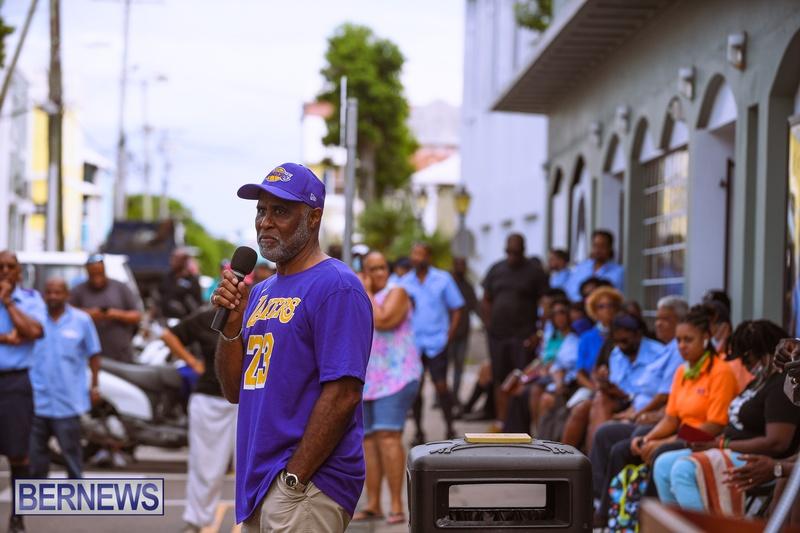 BIU Bermuda protest march August 31 2021 Bernews AW (18)