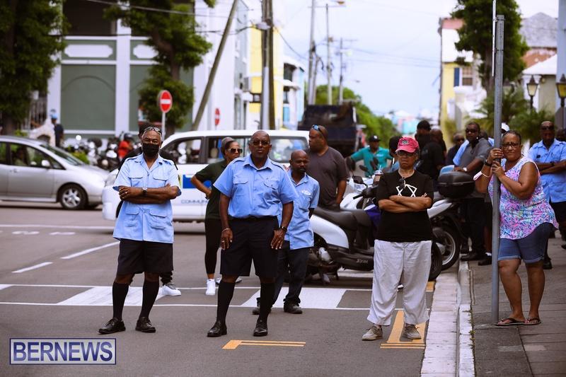 BIU Bermuda protest march August 31 2021 Bernews AW (19)