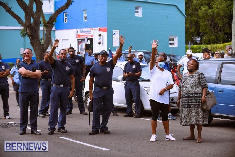 BIU Bermuda protest march August 31 2021 Bernews AW (20)