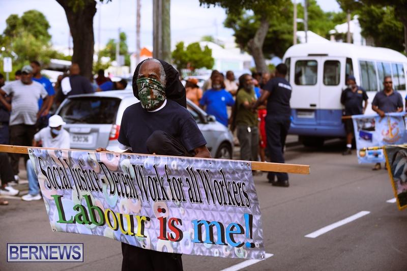 BIU Bermuda protest march August 31 2021 Bernews AW (21)