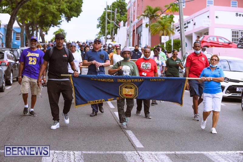BIU Bermuda protest march August 31 2021 Bernews AW (25)