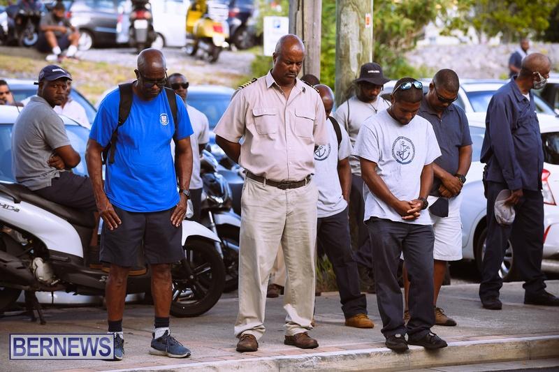 BIU Bermuda protest march August 31 2021 Bernews AW (3)