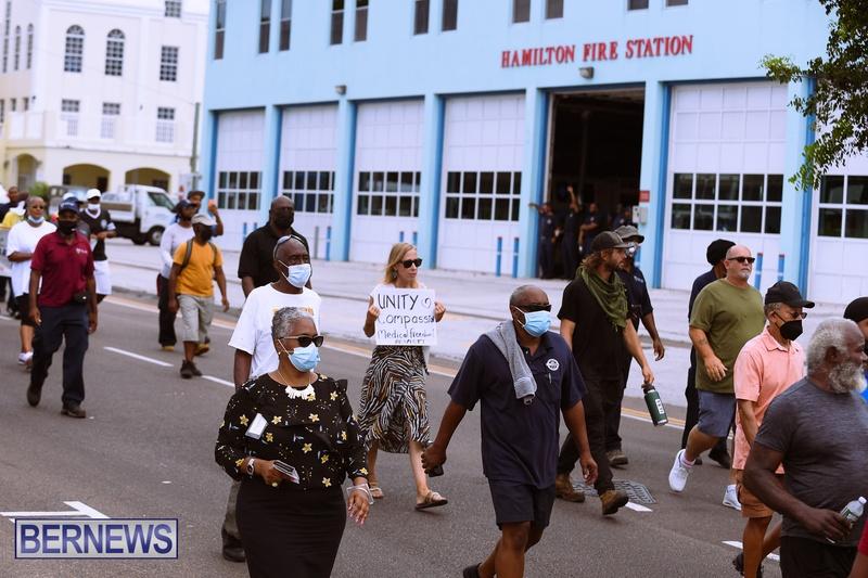 BIU Bermuda protest march August 31 2021 Bernews AW (31)