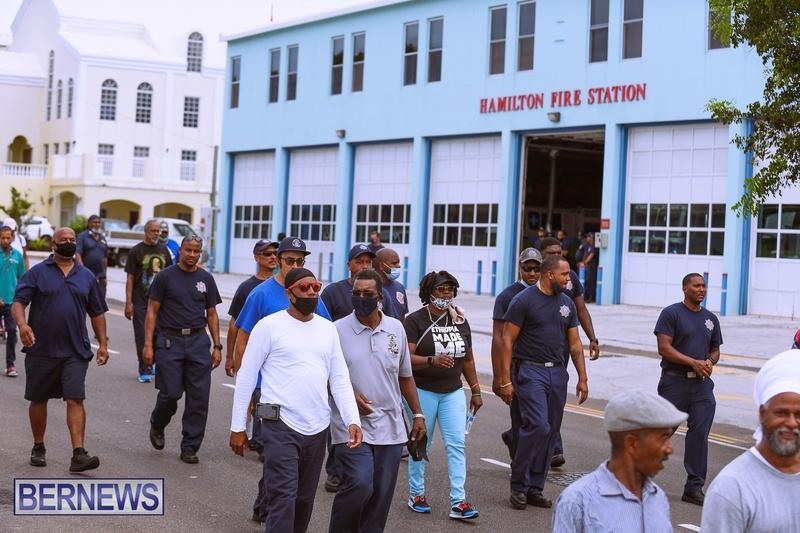 BIU Bermuda protest march August 31 2021 Bernews AW (32)