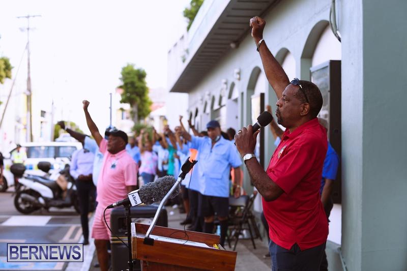 BIU Bermuda protest march August 31 2021 Bernews AW (4)