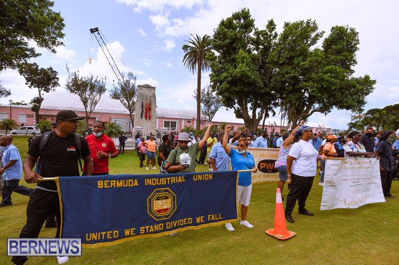BIU Bermuda protest march August 31 2021 Bernews AW (41)