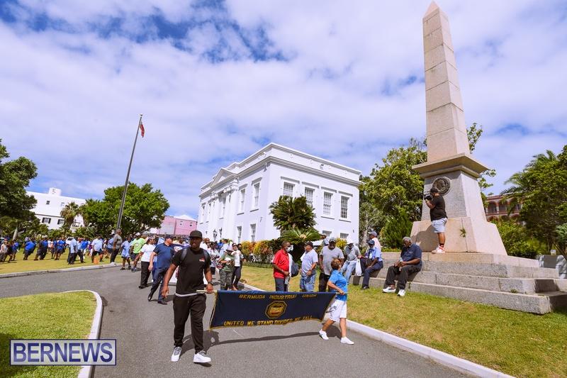 BIU Bermuda protest march August 31 2021 Bernews AW (46)