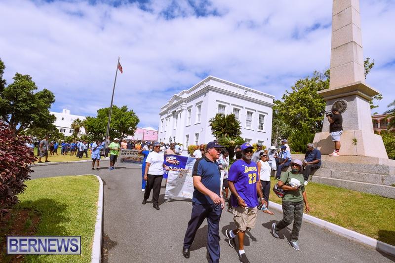 BIU Bermuda protest march August 31 2021 Bernews AW (47)