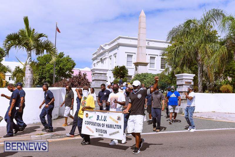 BIU Bermuda protest march August 31 2021 Bernews AW (53)